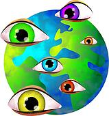 Stock Illustration of the eyes of the Lord k0318148 ...