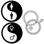 Drawings of Interlocked Male and Female Symbols x19894554 - Search ...