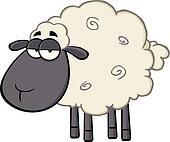 Clipart mignon noir t te mouton caract re k17726006 - Dessin tete de mouton ...
