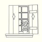 Fenster clipart schwarz weiß  Bilder - fenster, feste jalousie, in, schwarz weiß, altmodisch ...