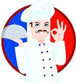 Clipart of Senior man wearing hat u27530140 - Search Clip Art ... | {Französische küche clipart 4}