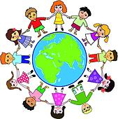 Clipart of Kids around the world k6603030 - Search Clip Art ...