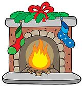 Fireplace Clipart and Illustration. 1,120 fireplace clip art vector ...