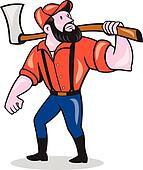 Lumberjack Clipart Illustrations. 474 lumberjack clip art ...