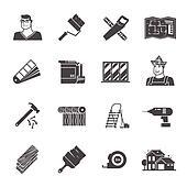 clipart arbeiter mit wasserwaage karikatur abbildung. Black Bedroom Furniture Sets. Home Design Ideas