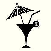 drawing of cocktail with umbrella k8285793 search clipart illustration fine art prints and. Black Bedroom Furniture Sets. Home Design Ideas