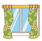 Fenster schließen clipart  Stock Illustration - zwei, mehrfamilienhäuser, mit, kleidung ...