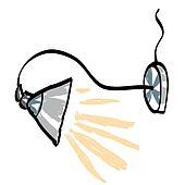 Schreibtischlampe clipart  Clip Art - رسم كاريكتوري, مصباح المكتب, على أبيض, الخلفية ...