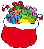 christmas gift bags clipart - photo #34