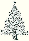 clip art weihnachten trees black und wei k7513328 suche clipart poster illustrationen. Black Bedroom Furniture Sets. Home Design Ideas