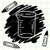 Messbecher clipart  Clipart - meßbecher, gekritzel k43760300 - Suche Clip Art ...