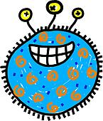 Clipart of germ k3055501 - Search Clip Art, Illustration Murals ...