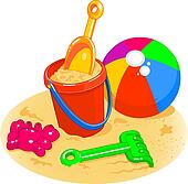 Clipart of sand bucket and shovel vmo0061 - Search Clip Art ...