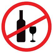 Clipart of Sign stop alcohol k3819392 - Search Clip Art ...