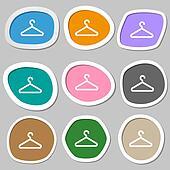 Kleiderständer clipart  Clipart - kleiderständer, symbol, symbols., mehrfarbig, papier ...