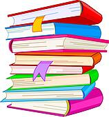 Bücherstapel clipart  Clipart - buecher, stapel k5425163 - Suche Clip Art, Illustration ...