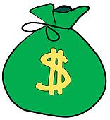 Dollar Signs Clip Art bag of money with dollar sign