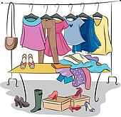 Clothes rack Clipart Royalty Free. 304 clothes rack clip ...