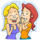 Woman Whispering Giggle Clipart