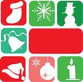 Utklipp - julegave, eske, laget, fra, gyllen, snowflakes