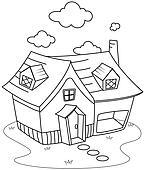 Haus strichzeichnung  Stock Illustration - strichzeichnung, haus k5222668 - Suche Clip ...