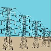 Drawings of Electric meter, electricity pylons and power ...