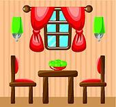 clip art - esszimmer, interior. k19762516 - suche clipart, poster, Esszimmer dekoo