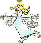 Clip Art of Funny Angel k6002688 - Search Clipart ...