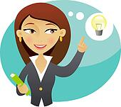 Business people having bright idea Illustrations and ...
