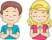 Praying Clipart Illustrations. 6,537 praying clip art vector EPS ...