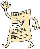 stock illustration of friendly resume k6543638 search