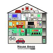 Clipart casa disegno k20445812 cerca clipart for Disegno interno casa