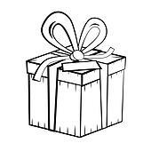 stock foto geschenk verpackung mit blau b nder und schleife freigestellt wei k4645243. Black Bedroom Furniture Sets. Home Design Ideas