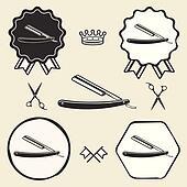 Clip art rasoio barbiere coltello segno k24009279 for Simbolo barbiere