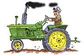John Deere Tractor Clipart Black And White Images & Pictures - Becuo