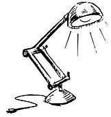 Schreibtischlampe clipart  Clipart - verstellbar, tischlampe, freigestellt, weiß k19963922 ...