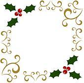 clipart weihnachten stechpalme rahmen k6583862 suche. Black Bedroom Furniture Sets. Home Design Ideas