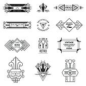 Art Deco Design Elements clipart of art-deco frame, border and elements k15893543 - search