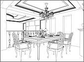 스톡 일러스트 - 삽화, 의, 아늑한, 방 tid023t000086 - 클립 아트 ...