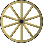 old wooden wheel Coyote Clip Art wagon wheel clip art for gypsy