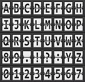 Tafel clipart schwarz weiß  Clipart - vektor, alphabet, von, schwarz, weiß, mechanisch, tafel ...