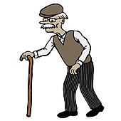 Clipart of Old Man k8746034 - Search Clip Art, Illustration Murals ...