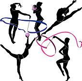 Clipart gymnastique rythmique k15952727 recherchez des - Dessin de grs ...