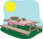 picnic bench. Black Bedroom Furniture Sets. Home Design Ideas
