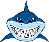 Angry shark clipart - photo#14
