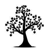 bare apple tree clipart. apple tree bare clipart