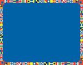 Clipart of EPS8 Vector Nautical Flag Border k9209922 - Search Clip ...