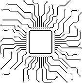 clipart of hi-tech circuit board k9211500