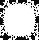 Clip Art of Cow print frame k6741228 - Search Clipart ...