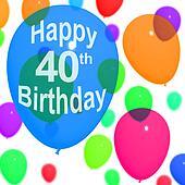 Stock Illustration of 40th Birthday 3D invitation k1239927 ...